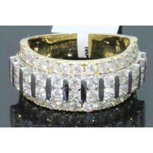 Nice men's 3.35 carat 10k yellow gold diamond ring